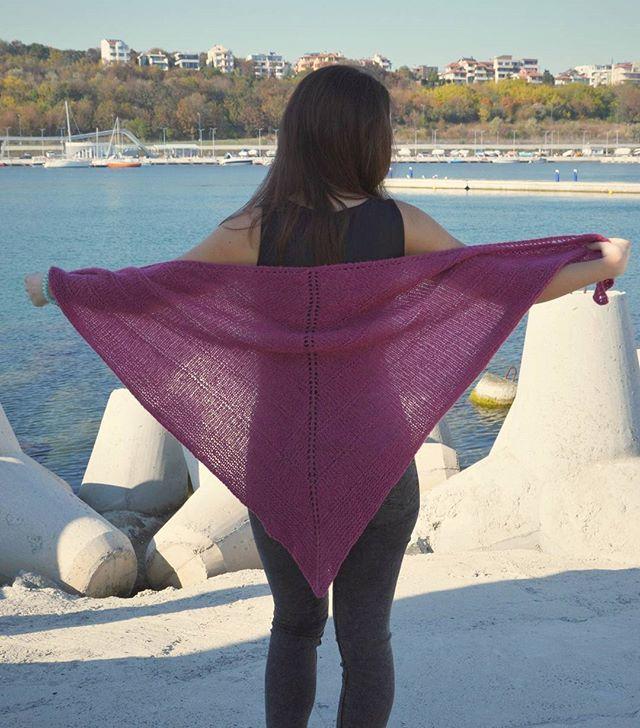 Вяжем треугольные платки. Часть 1. Классический треугольный платок фото