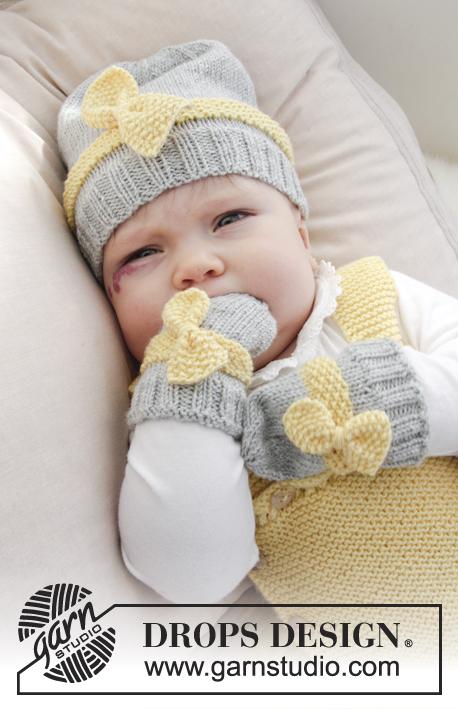 Комплект из шапки и рукавичек Little Miss Ribbons Mittens фото