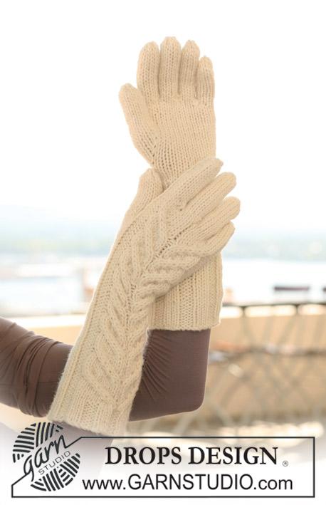 Длинные перчатки с косами фото