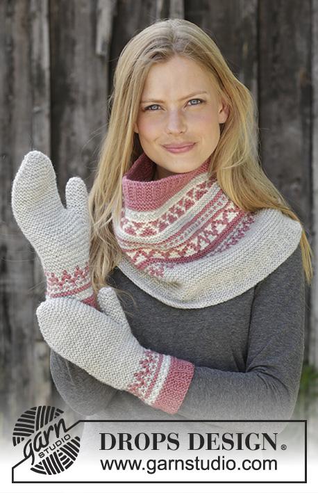 Комплект из снуда и рукавиц Hint of Heather фото