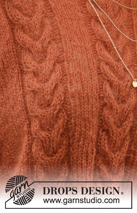 Джемпер Autumn Trails от DROPS Design фото