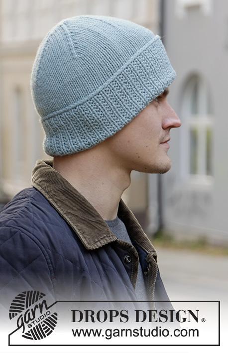 Мужская шапка Fisher's Friend от DROPS Design фото