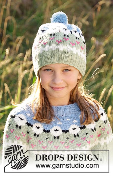 Детская шапка Lamb Dance от DROPS Design фото