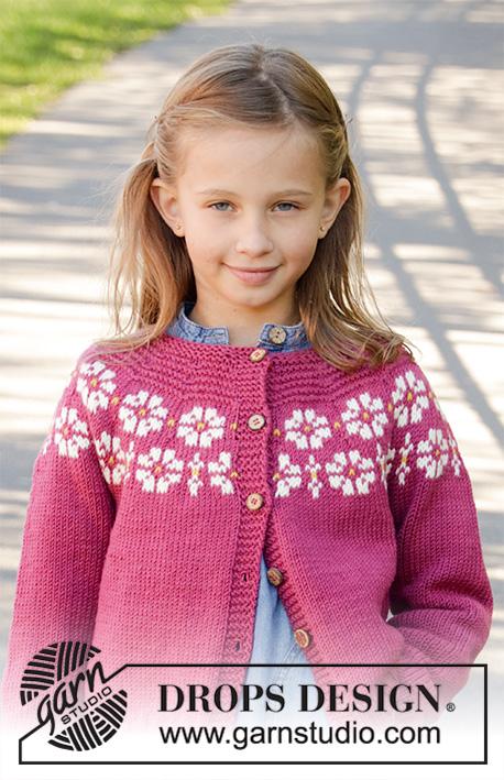 Детский кардиган Daisy Delight DROPS Design фото