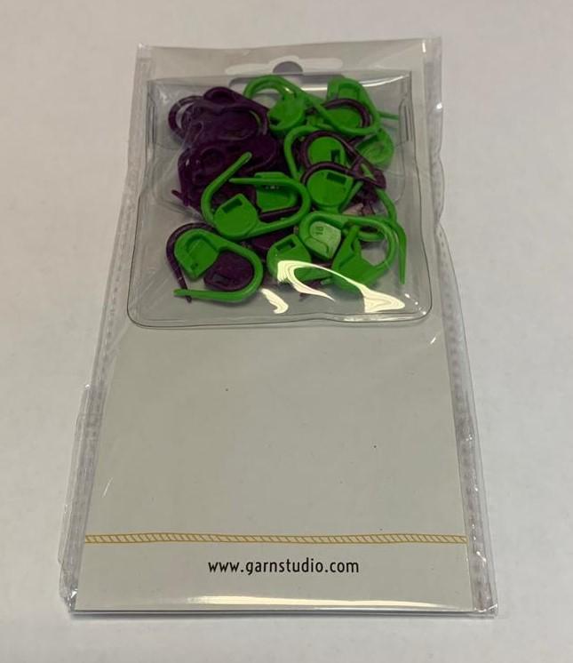 маркеры для вязания 30 шт зеленого и фиолетового цвета купить по
